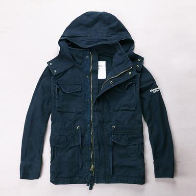 Куртка Abercrombie & Fitch темно-синяя