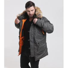 Куртка мужская HUSKY GREY\ORANGE