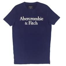 Футболка Abercrombie & Fitch синяя с принтом