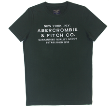 Футболка Abercrombie & Fitch темно зеленая