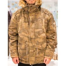 Куртка Ambercrombie зимняя песочный камуфляж