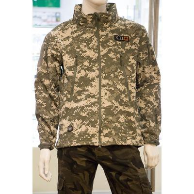 Куртка софт шелл цифра-серая