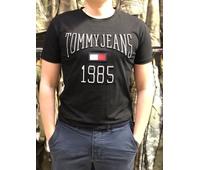 Футболки Tommy Jeans c 3D принтом черная