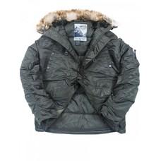Мужская зимняя куртка N3B Аляска HUSKY FOREST NIGHT