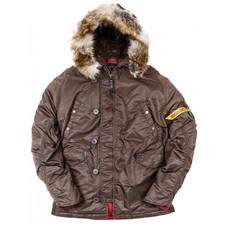 Мужская зимняя куртка N3B Аляска HUSKY BROWN